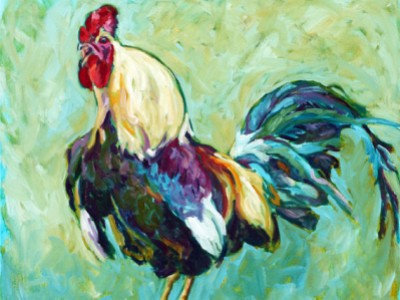 Rooster, V by Gail Dee Guirreri Maslyk