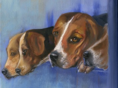 Hounds and Pups by Leslie Anthony