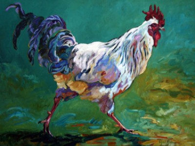 Rooster  X by Gail Dee Guirreri Maslyk