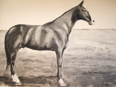Old Baldy, General Mead's beloved horse by Nancy   Whitin
