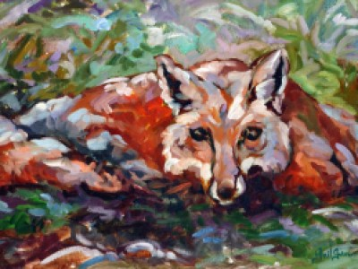 Fox in the Spring Grass by Gail Dee Guirreri Maslyk