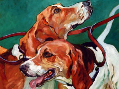 Coupled Hounds, II by Gail Dee Guirreri Maslyk
