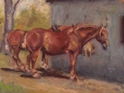 Suffolk Punches by Kelly  Wilkinson Coffin