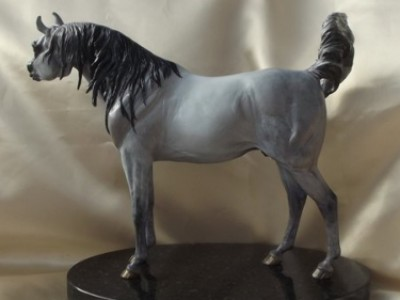Halim Cyril 'Gentle Master' hand detailed Dove Gray Arabian by Tabatha Pack