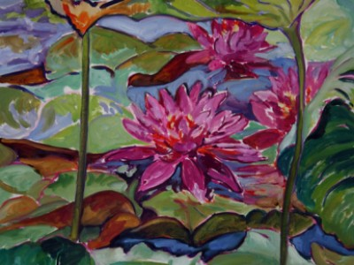 Lotus and Water Lilies, II by Gail Dee Guirreri Maslyk