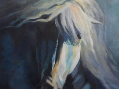 White Stallion by Kristin   Stashenko