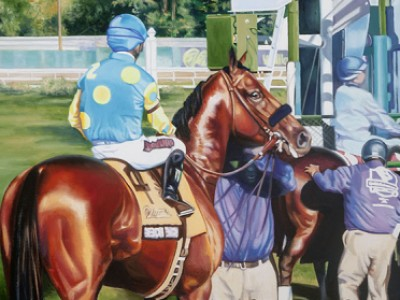 Gate to Glory - American Pharoah by Doreen   Irwin