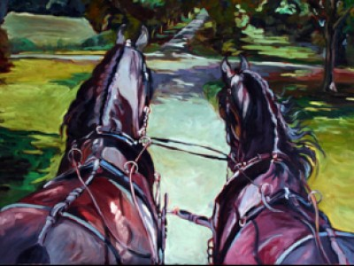 Bent Tree Farm Friesians by Gail Dee Guirreri Maslyk