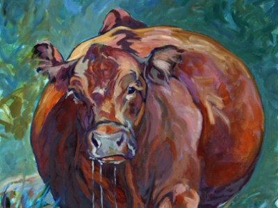 Portrait of a Red Angus, I by Gail Dee Guirreri Maslyk