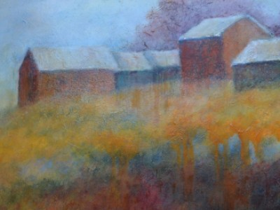 Barns on the Hill by Jill Garity