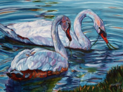 Swans, I by Sue Lyman