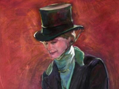 Sidesaddle Portrait, I