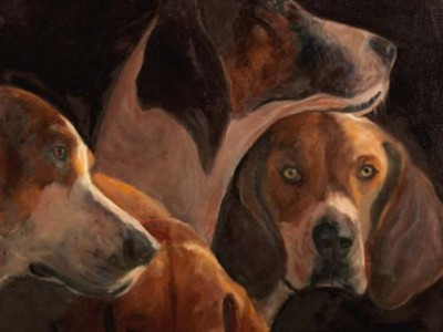 Four Hounds by Dolly Buswell