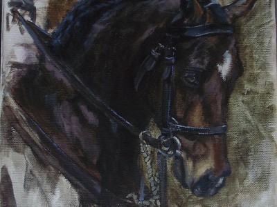 Cavalry Horse by Leslie Sorg