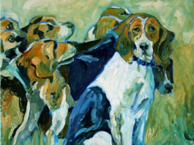 Moore County Hounds by Gail Dee Guirreri Maslyk