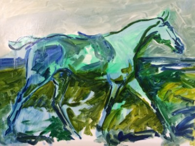 The Grey Mare aft Munnings by Gail Dee Guirreri Maslyk