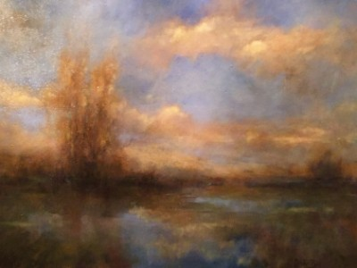 Clouds Over The Marsh by Jill Garity