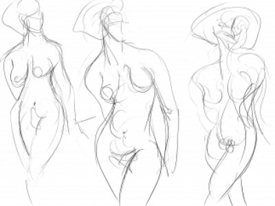 Figure Study, Feminine VII by Barbara A. Sharp