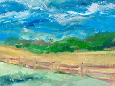 Blue Ridge Mountains, Pasture and Fence by Barbara A. Sharp