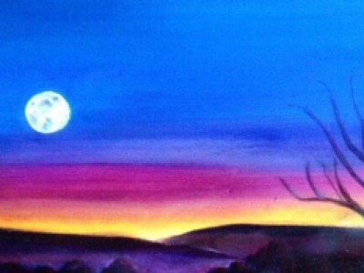 Moonrise Over High Meadow by Sue Lyman