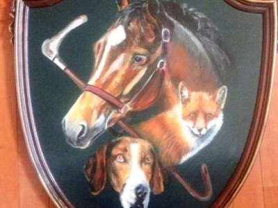 Horse, Fox and Hound Crest by Debbie   Cadenas