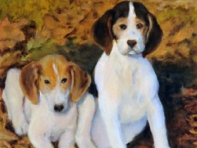 Hound Puppies, I by Pat Carter