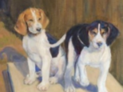 Hound Puppies, II by Pat Carter