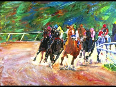 At the Races, I by Jennet Inglis