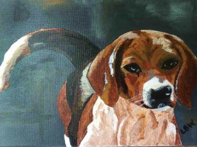 Beagle by Linda   Wine