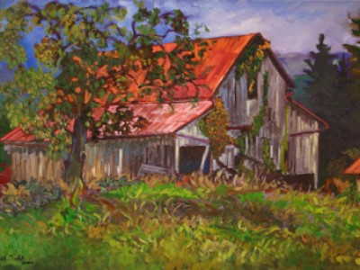 Lucy's Hay Barn, Cow Hill I by Gail Dee Guirreri Maslyk
